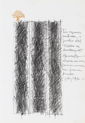 Proyecto de escultura, 1980. HERNÁNDEZ PIJUAN, Joan