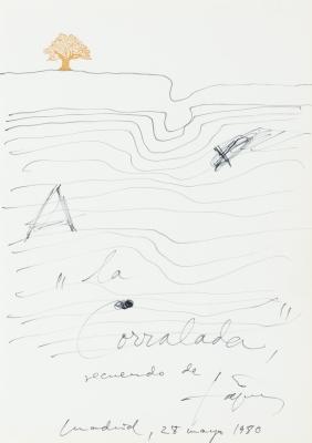 """""""La Corralada"""", 1980. TÀPIES PUIG, Antoni"""