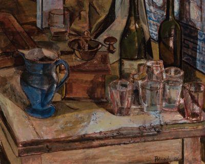 """JOAQUÍN PEINADO (Ronda, Málaga, 1898 – París, 1975).""""Bodegón"""", 1950."""