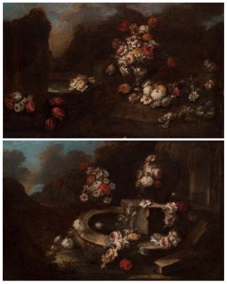 """""""Fuente de jardín con flores"""" Círculo de GASPARO LOPEZ,"""