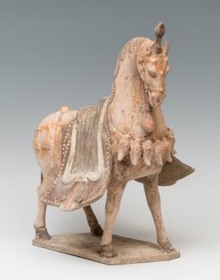 Caballo; Dinastía Wei, China, Terracota policromada.