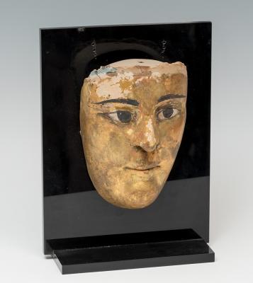 Máscara de sarcófago; Egipto, siglos II-I a. C