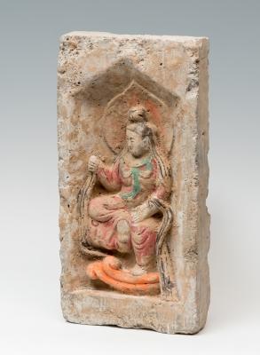 Ladrillo con representación figurativa; Dinastía Wei de...