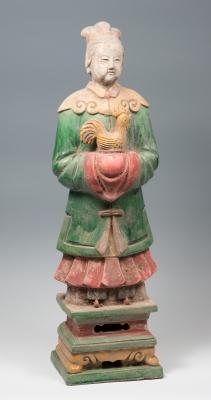 Figura de dama oferente; China, dinastía Ming, 1368 – 1644.