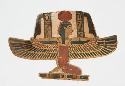 Cartonaje  representando a la diosa Isis; Egipto, Perio