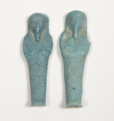 Pareja de Ushebtis; Egipto, Periodo Ptolemaico, 323-30 a.