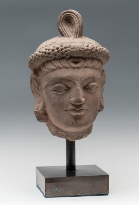 Cabeza de Buda; Cultura de Gandhara,  240 d. C