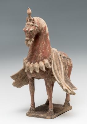 Caballo ceremonial; China, dinastía Wei del Norte, 386-533 d.