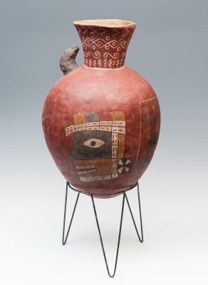 Vasija monumental; Perú, Cultura Huari,  700-1100 d. C