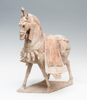 Caballo ceremonial; China, dinastía Wei, 386-557 d. C