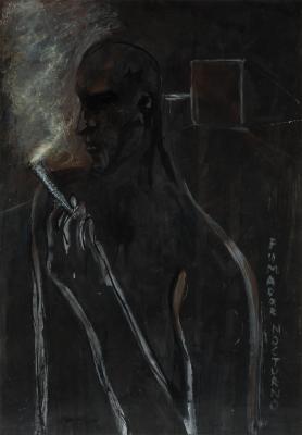 """""""Fumador nocturno"""", 1985. Pelayo Ortega"""