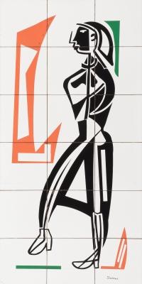 Mural sobre cerámica. SEOANE LÓPEZ, Luis