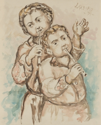 """""""LAXEIRO"""", JOSÉ OTERO ABELEDO (Lalín, 1908–Vigo, 1996)."""