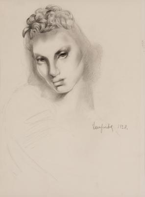 """""""Tête de femme"""", 1928. """"Tamara de Lempicka"""""""