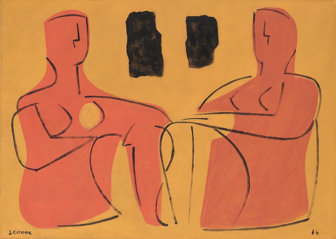 """Mulleres parolando"", 1964. SEOANE LÓPEZ, Luis"