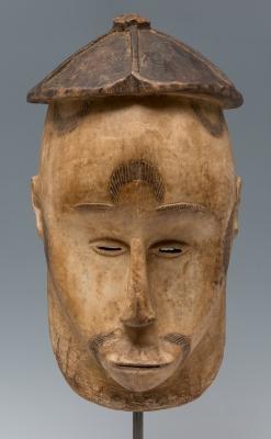 Máscara de ritual, Gabón, siglo XX.