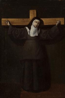 """Santa Teresa de Jesús crucificada"" Circulo de Francisc"