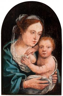 """Virgen de la leche"". Escuela flamenca, siglo XVI."