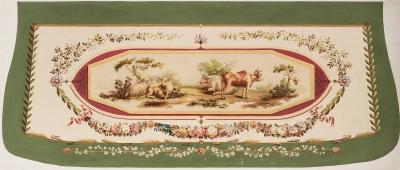 Modelo-cartón para asiento. Siglo XIX.