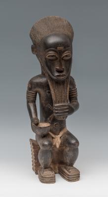 Figura de gran dignatario del pueblo Baulé; Costa de Ma