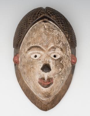 Máscara del pueblo Punu; Gabón, principios del siglo XX