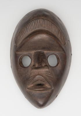 Máscara del pueblo Dan; Costa de Marfil, principios del siglo XX.