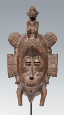 Máscara del pueblo Senufo; Costa de Marfil, finales del siglo XIX.
