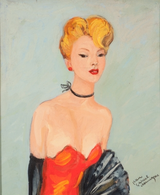 """Chica pin up"". JEAN-GABRIEL DOMERGUE"