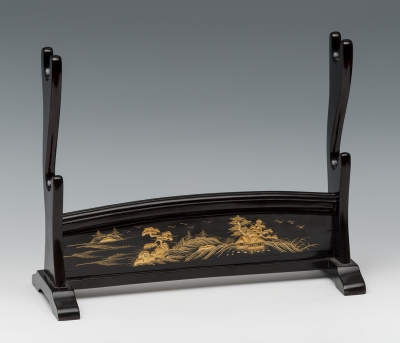 Katana kake o soporte para dos espadas; Japón, periodo