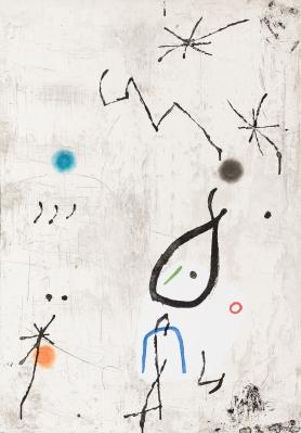 """""""Personaige I Estels VI"""", 1979. Joan Miro"""