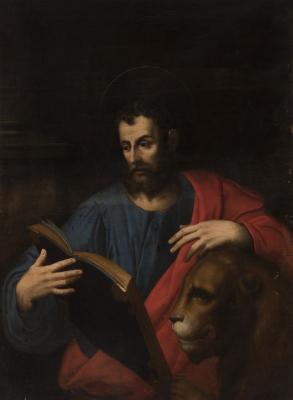 """""""San Marcos"""" Escuela italiana de la segunda mitad del siglo XVII."""
