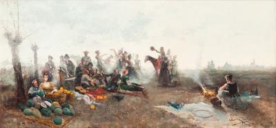 """""""Romería"""", 1885. Juan Jiménez Martín"""