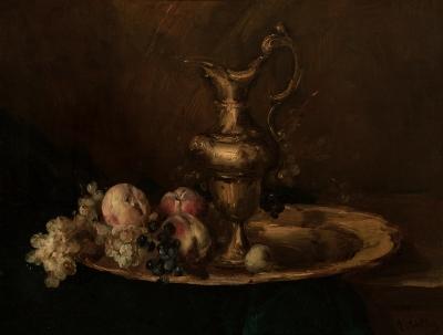 """""""Bodegón de aguamanil con frutas"""" Antoine Vollon"""