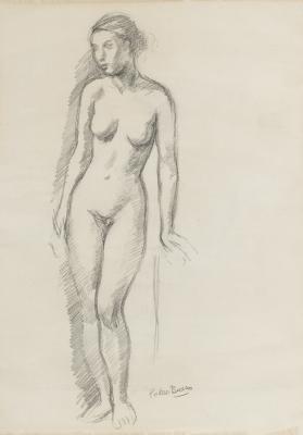 """""""Estudio de desnudo femenino"""" Pedro Bueno Villarejo"""