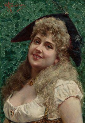 """Retrato de mujer joven"". ANGELO GARINO"