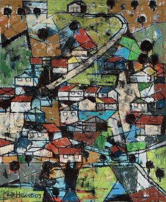 """""""Tierra inmutable"""", 1990. Abuzaydun Hanoos"""