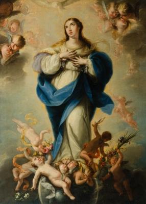 """Inmaculada"". Escuela madrileña, siglo XVII."