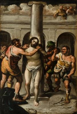 """Cristo atado a la columna"" Escuela veneciana, siglo XVI."