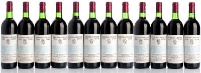 Doce botellas de Vega Sicilia  Valbuena 3º, 1978.