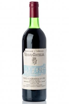 Botella de Vega Sicilia Valbuena 3º, 1982.