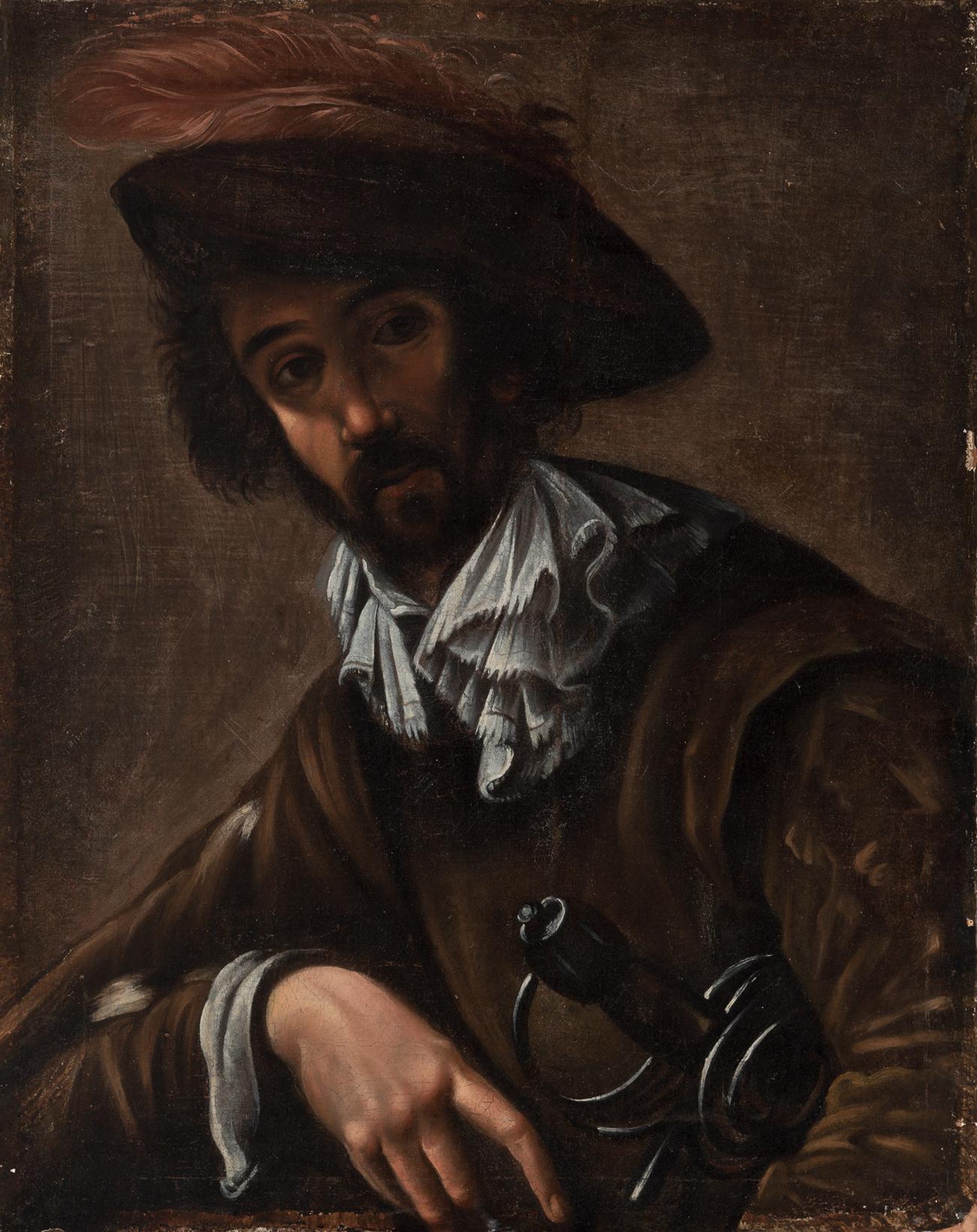 Escuela francesa, finales siglo XVII.Oleo sobre lienzo.