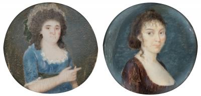 Pareja de miniaturas; principios del siglo XIX.