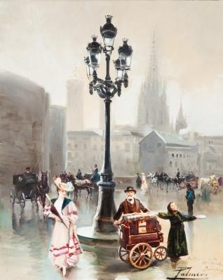 """""""Plaza  de la Catedral, Barcelona"""" Alfredo Palmero de Gregorio"""