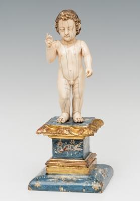 """Niño Jesús"" Escuela Hispano-filipina; finales del siglo XVII."