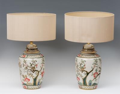 Conjunto de lámparas de mesa, siglo XX.