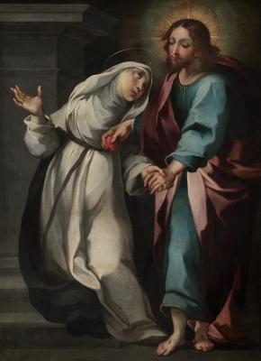 """""""Éxtasis de Santa Catalina de Siena""""."""