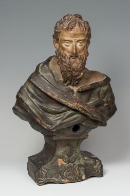 """Busto relicario"". Escuela italiana, siglo XVII."