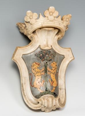 Escudo Heráldico; hacia 1700. Mármol de carrara