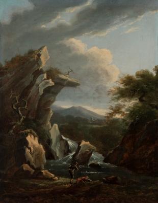 "SALVATOR ROSA (Arenella, Napoles 1615-1673).""Paisaje""."