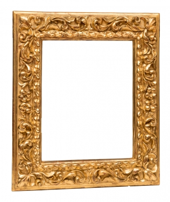 Marco; siglo XVIII. Madera tallada y dorada
